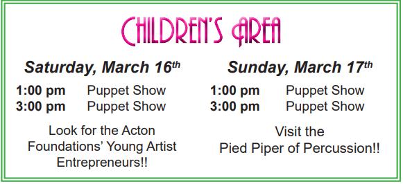 Children's Area Schedule 2019